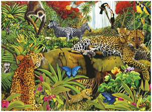 Ravensburger 100 Piece  Jigsaw Puzzle: Wild Jungle