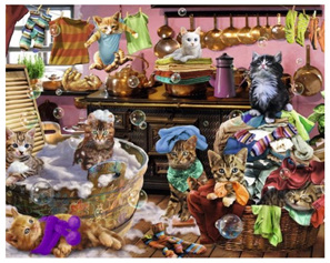 Ravensburger 150 Piece Jigsaw Puzzle: Cats In The Kitchen