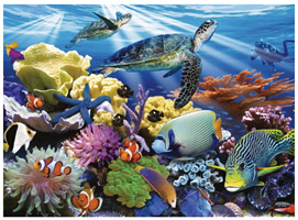 Ravensburger 200 Piece  Jigsaw Puzzle: Ocean Turtles