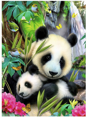 Ravensburger 300 Piece  Jigsaw Puzzle: Cuddling Panda's