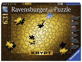 Ravensburger Krypt Gold Spiral 631 Piece Blank Jigsaw Puzzle Challenge for Adults