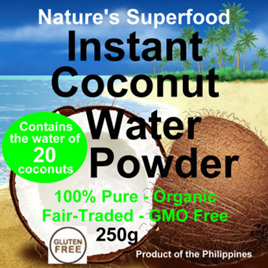 Raw Organic Coconut Water Powder - 125g