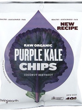 Raw Organic Kale Chips 40g - NEW Purple