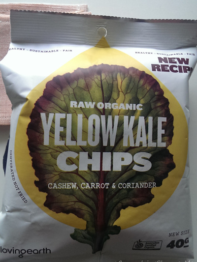 Raw Organic Kale Chips 40g - Yellow