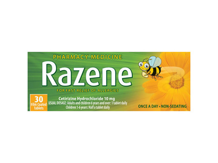 Razene 10mg Tablets 30