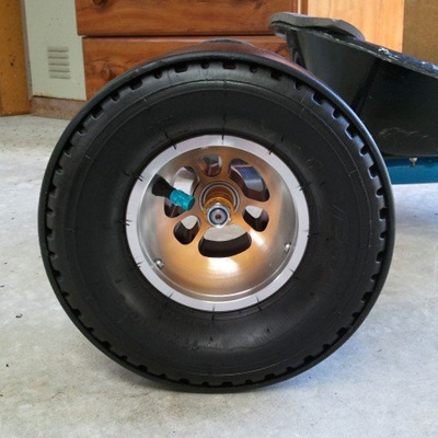 "Rear wheels - 5"" rims/tyres/PVC combo"