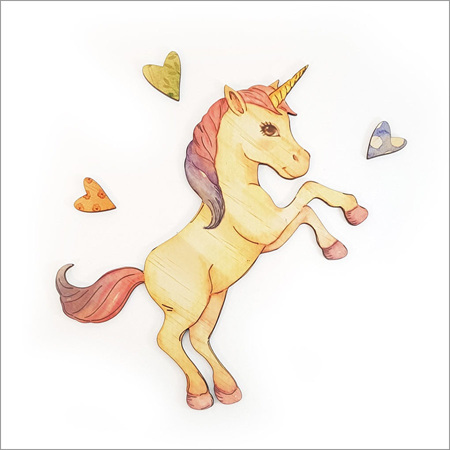 Rearing Unicorn  - Kids Pine Wall Art