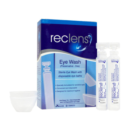 RECLENS EYE WASH 15ML DISP BATH 10PK