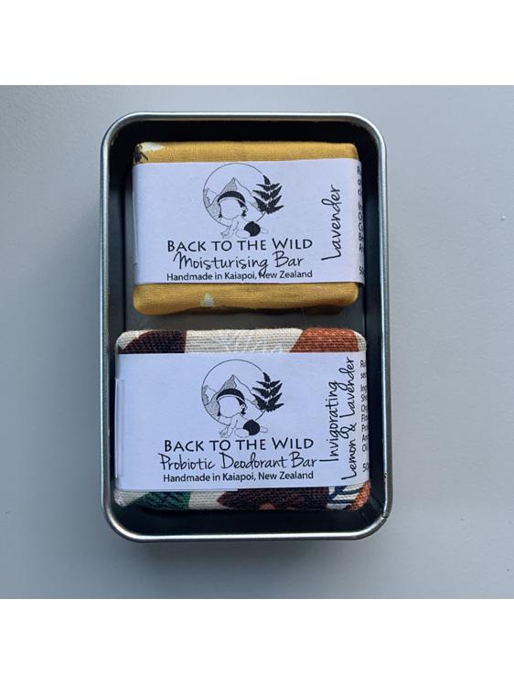 rectangle aluminium storage tin solid natural zero waste deodorant bars