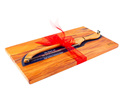 rectangle board and bread knife set