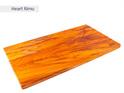 rectangle chopping board medium long - heart rimu