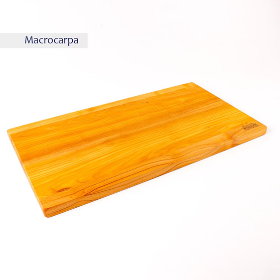 rectangle chopping board medium long - macrocarpa