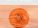 Rectangle Chopping Board Medium - OUTLET C GRADE