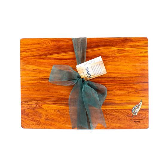 rectangle chopping board - rimu - paua fern