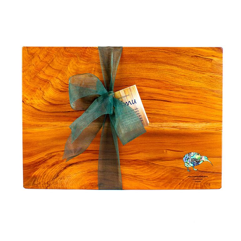 rectangle chopping board - rimu - paua kiwi