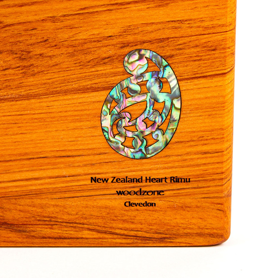 rectangle chopping board - rimu - paua koru