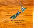 rectangle chopping board - rimu - paua map