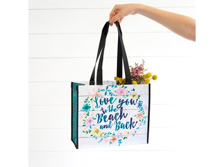Recycled Gift Bag-Love You To The Beach