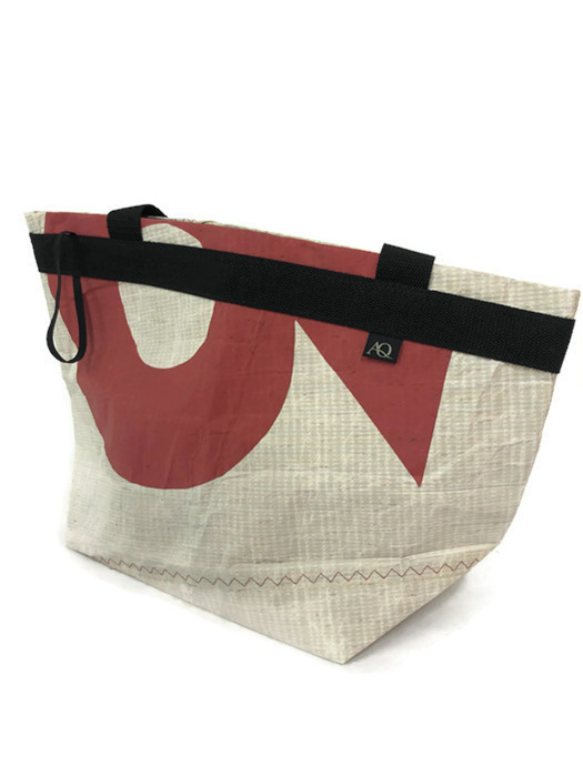 Recycled sailcloth bag from Young Nicholson mainsail