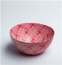 Red abstract Bowl - Papier Mache