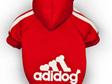 red adidog hoodie