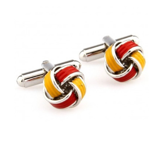 Red and Yellow Coloured Cufflinks