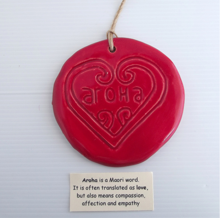 Red Aroha heart wall art