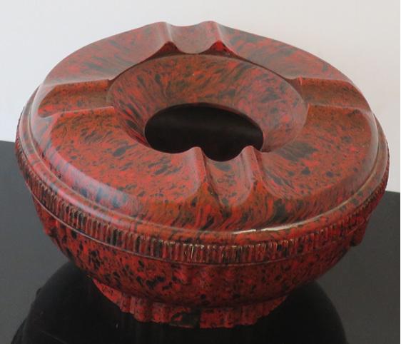 Red bakelite ashtray