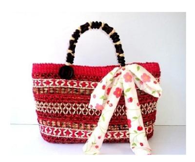 Red Cataleya Handbag - FREE SHIPPING