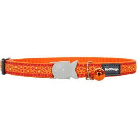 Red Dingo Cat Collar Bedrock Orange