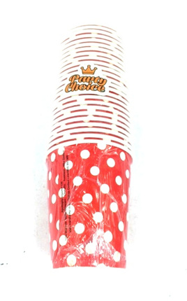 Red Dots Party Cups x 25