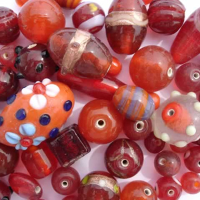 Red Fancy Bead Mix