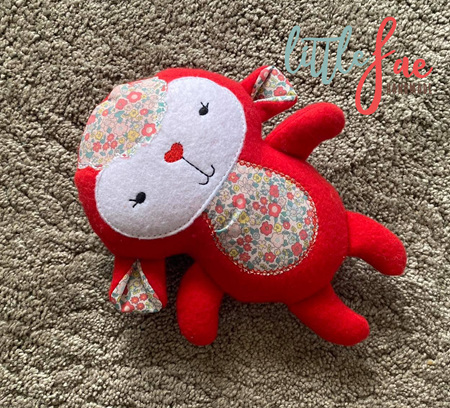 Red Flower Lamb Toy