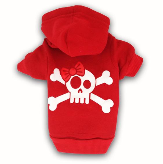 red jolly roger hoodie