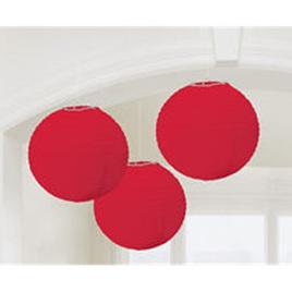 Red Lanterns paper - set of 3