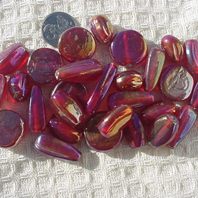 Red Lustre Bead Mix