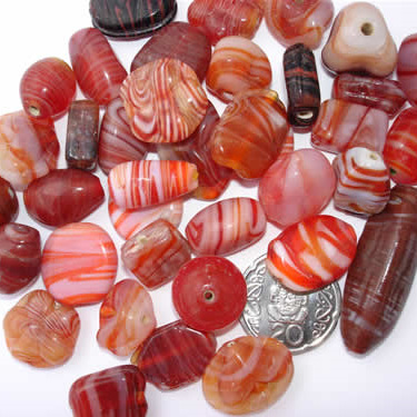 Red Marble Bead Mix