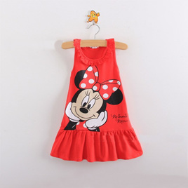 Red Minnie Mouse Kids Dress Size 3