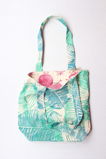 Red Onion Reversible Tote