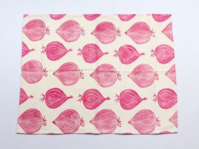 Red Onion Tea Towel