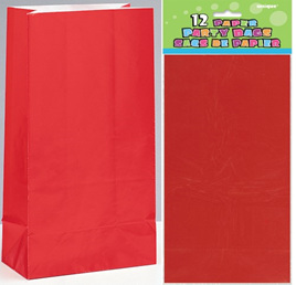 Red paper bags - 12