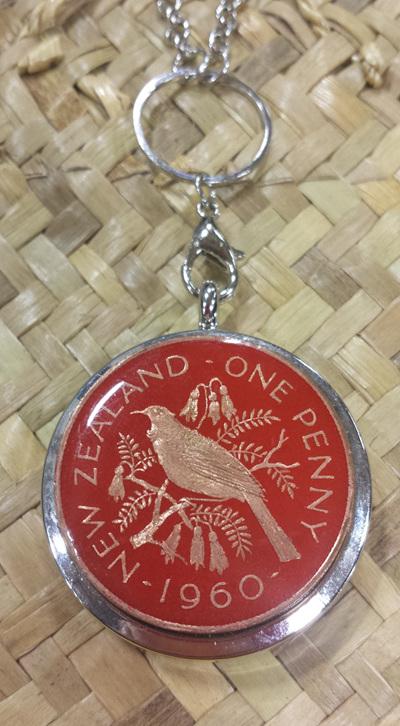 Red penny locket