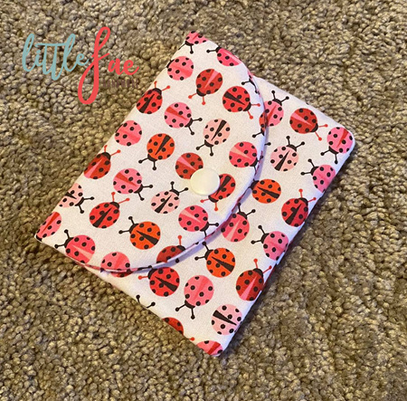 Red & Pink Ladybug Coin Purse