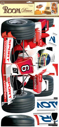 Red Race Car Wall Decal