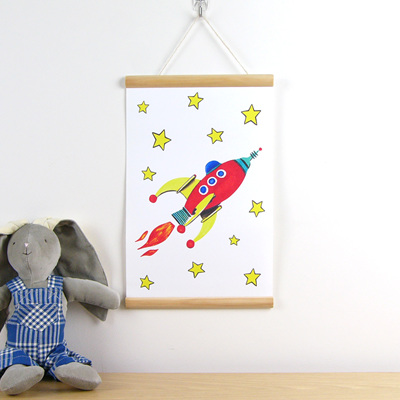 Red Rocket hanging canvas print
