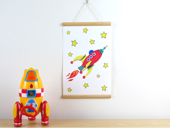 Red Rocket canvas print