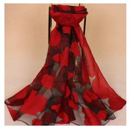 Red Rose Long Scarf