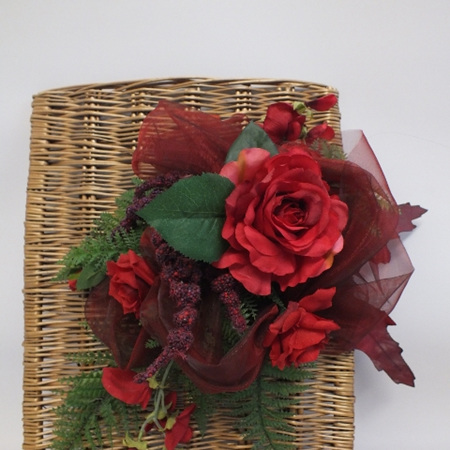 Red Roses on Cane 2168