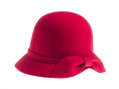 RED ROSIE CLOCHE