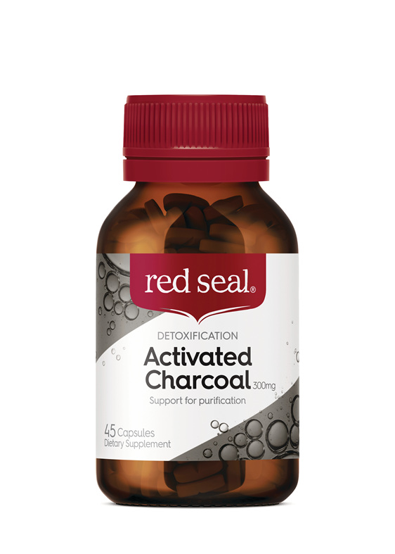 Red Seal Activated Charcoal 300mg 45 Capsules